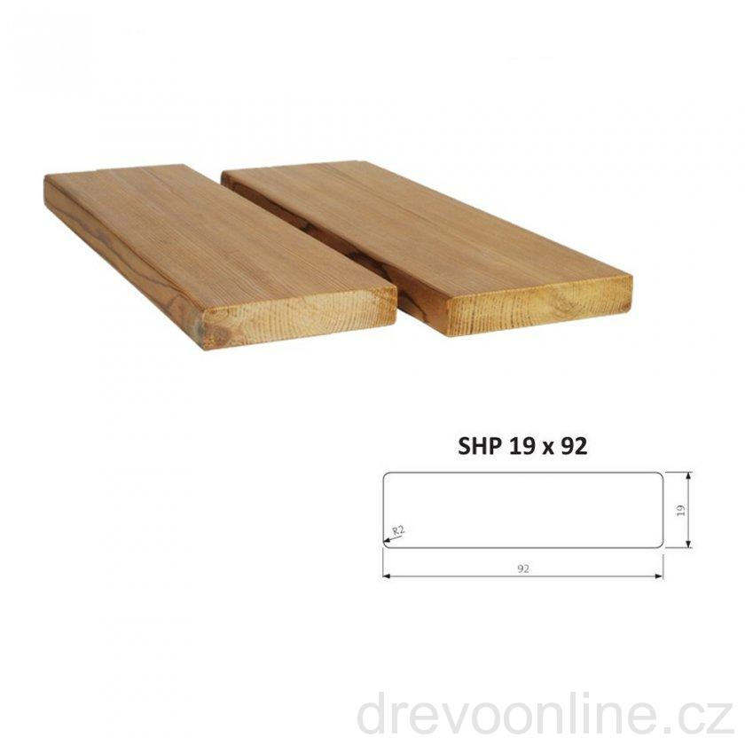 Hoblované prkno SHP 19 x 92 x 3000 mm - THERMOWOOD