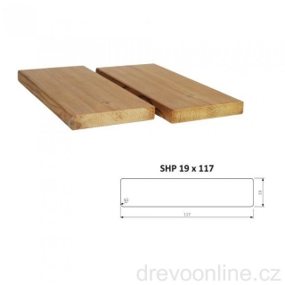 Hoblované prkno SHP 19 x 117 x 4200 mm - THERMOWOOD